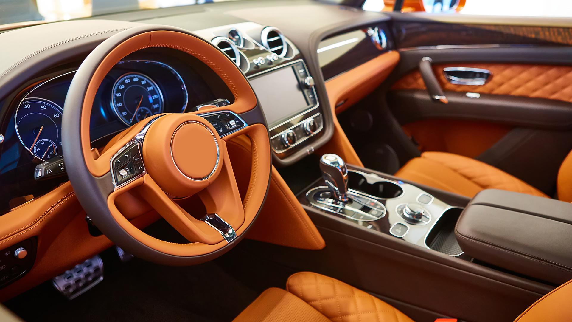Abbildung Auto Innenraum Leder